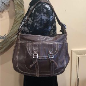 Fossil Brown Leather hobo bag